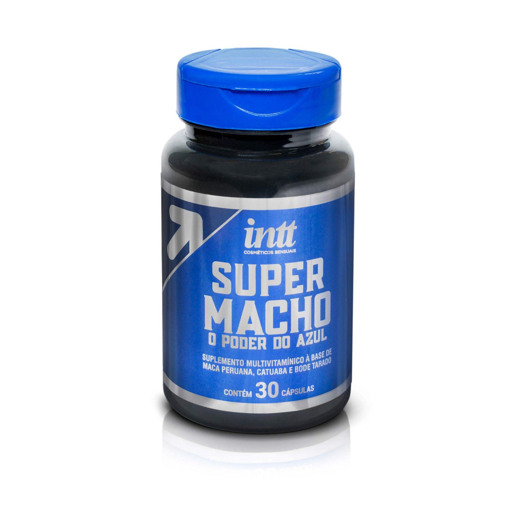 Super Macho azulzinho em Cápsula - Excitante Masculino - INTT