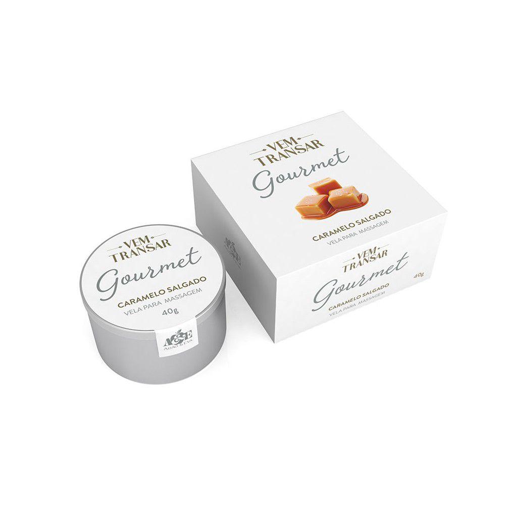 Vela Beijável para massagem  - Caramelo Salgado - Pote com 40 gramas