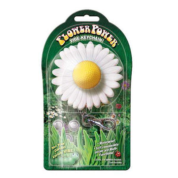 Vibrador em formato de flor com chaveiro flower power vibe kaychain