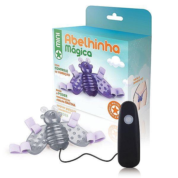 Vibrador Feminino com Cinta Mini Abelha mágica transparente