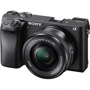 Camera Sony 4k ILCE 6300/B Interchangeable + Lente SEL-35F18 ILCE-6300