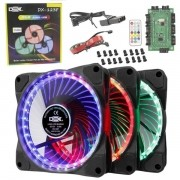 Cooler Dex Kit C/3 RGB | ANEL | 21 LEDs