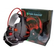 Headphone Gamer Soldado Com Microfone LED InfoKit