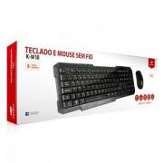 Kit Teclado e Mouse sem fio C3tech Preto K-W10