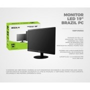 Monitor Led 19 PC Brasil HDMI/VGA