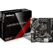 Placa Mae Asrock AB350M-HDV AM4 AMD DDR4 HDMI D-Sub DVI-D