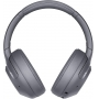 Fones de Ouvido Bluetooth Sem Fio Sony WH-XB900N Cancelamento de Ruido Cinza