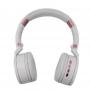 Headphone Bluetooth 5.0 Exbom Alcas Dobraveis Branco e Rosa HF-480BT