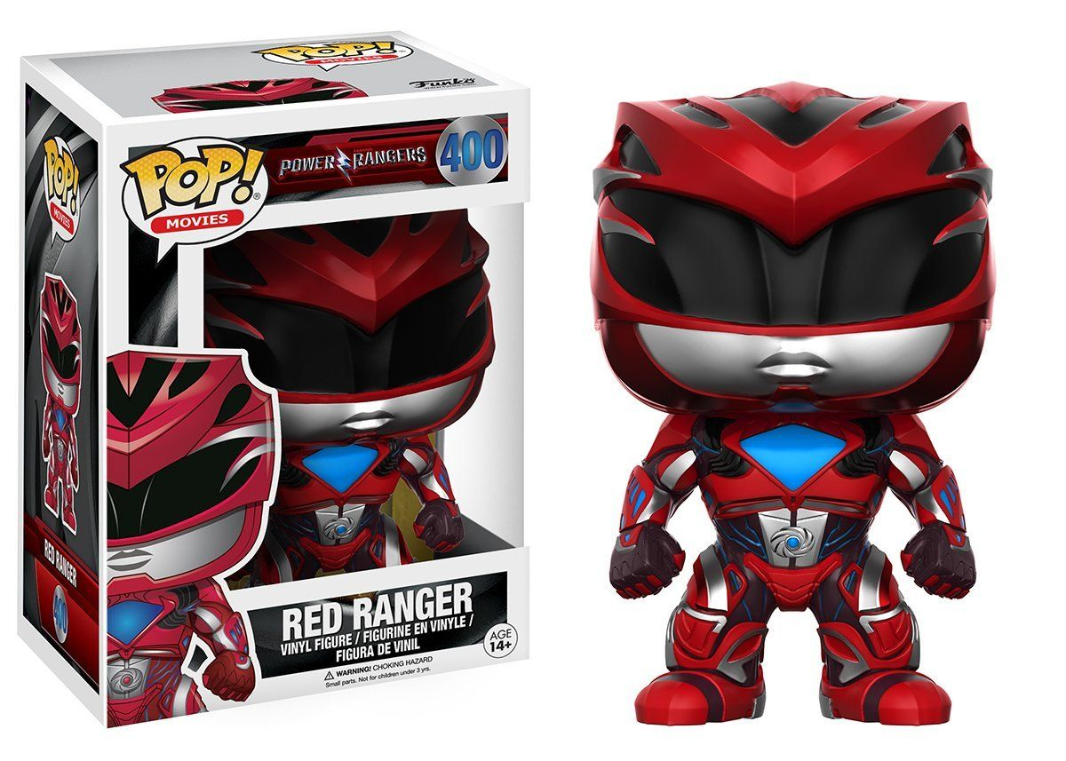 Boneco Colecionável Red Ranger Funko Pop Vinil 2017 #400