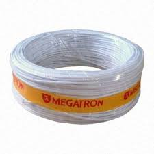 Cabo Manga Megatron 4 vias 4x26 AWG rolo 100 metros Branco