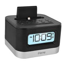 Caixa de Som Dock Station iHome iPL8BN Stereo FM Clock Radio (iPhone/iPod - Black)