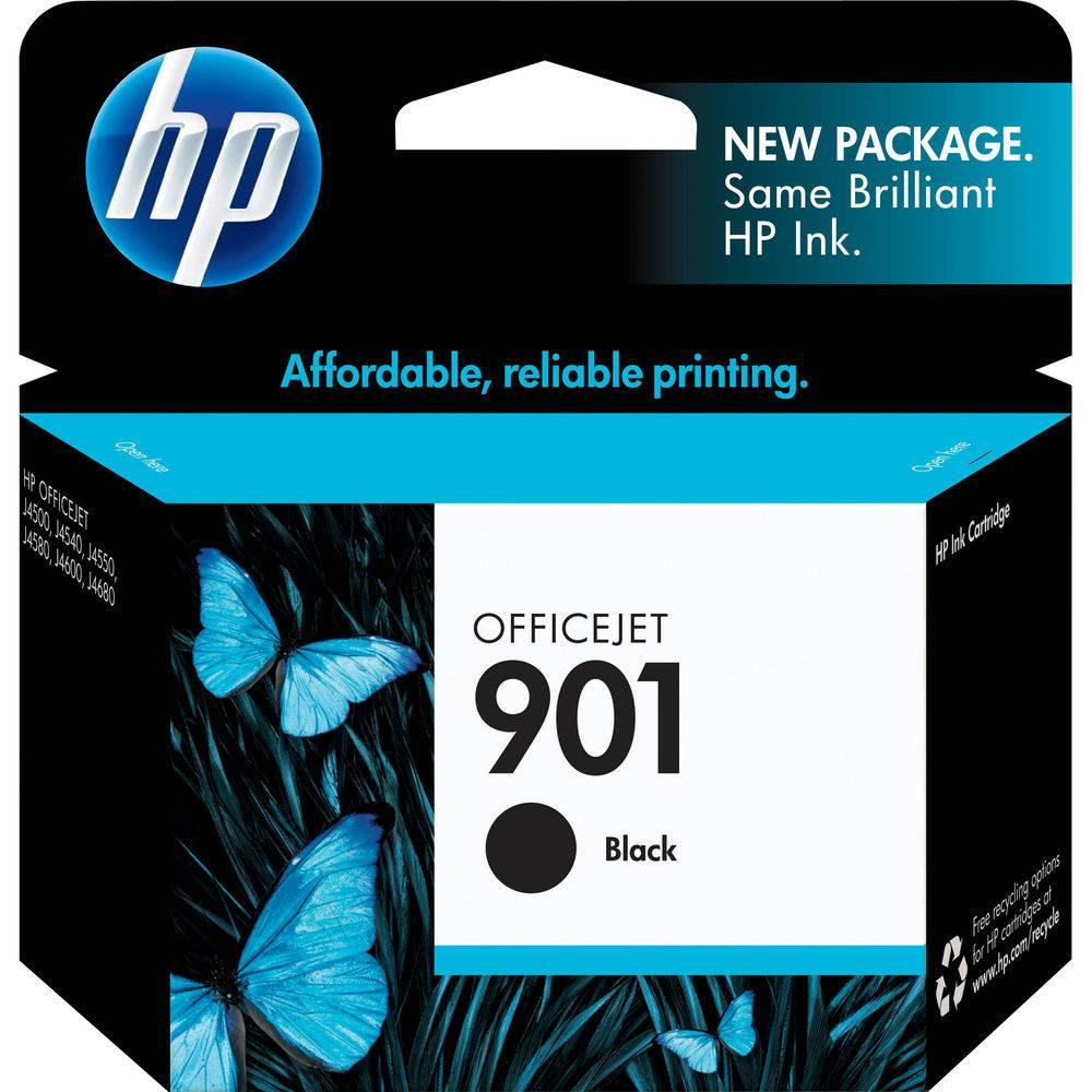 Cartucho de Tinta HP Officejet 901 CC653AB Preto