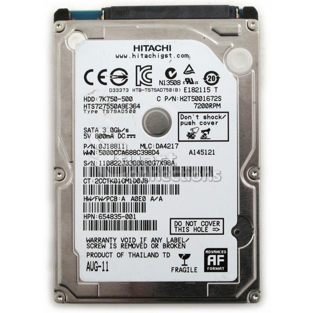 HD 2,5 e Ultrabook Hitachi 7200Rpm 500GB| 9MM