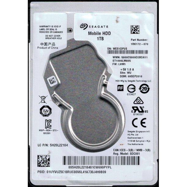 HD 2.5 Seagate 1TB 5400Rpm  7mm  ST1000LM035