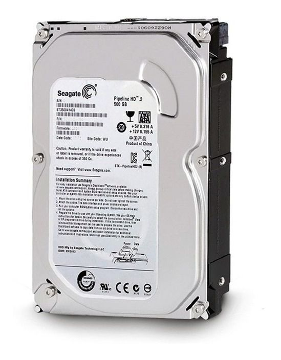 HD 3,5 Seagate 500GB| 5900 RPM| CACHE DE 16MB