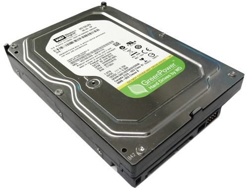 HD 3,5 WD Green Power 1TB 7200RPM 64MB Cache