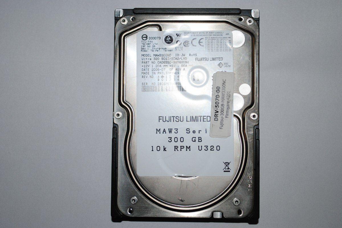 HD p/ Servidor 300GB Fujitsu HP Enterprise 10K RPM U320 SCSI Maw3300NC