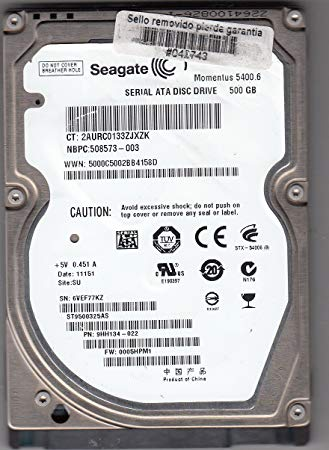 HD Seagate 2,5 500GB 5400RPM 9Milimetro