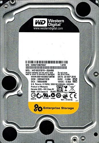 HD Servidor Western Digital 1Tb 7.200 rpm