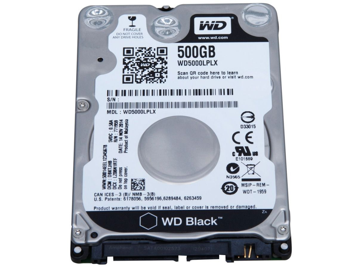 HD WD Black 2,5 500GB 5400RPM