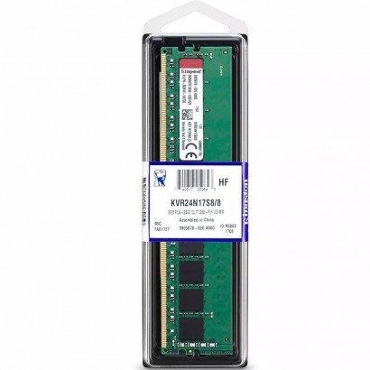 Memória 8GB 2400Mhz DDR4 Kingston - KVR24N17S8/8