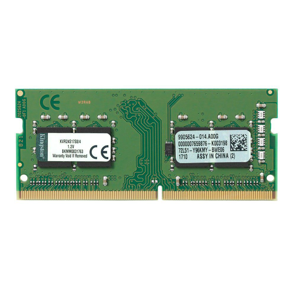 Memória Kingston 4Gb Ddr4 2400Mhz cl17 so Dimm KVR24S17S8/4