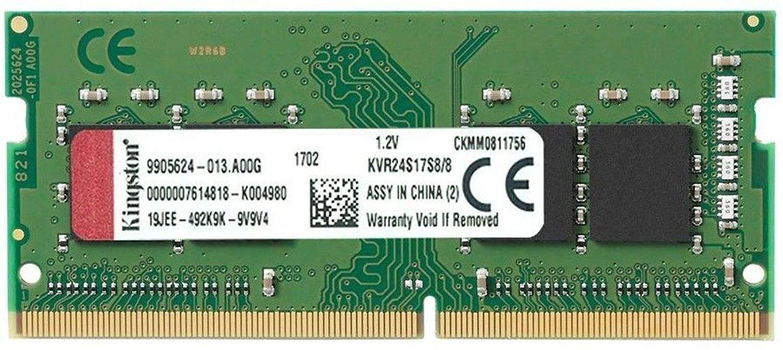 Memoria Notebook 8GB 2400MHz DDR4 Kingston - KVR24S17S8/8
