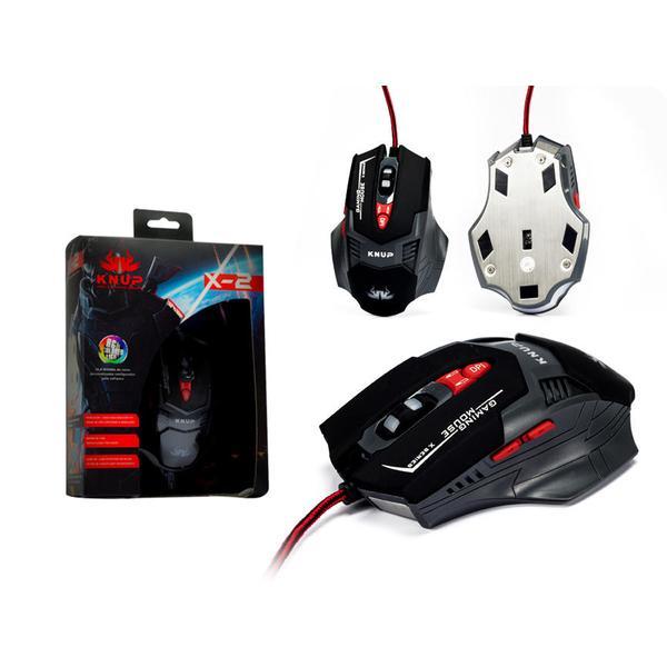 Mouse Gamer Led 2500 Dpi 7 Botões Knup KP-X2