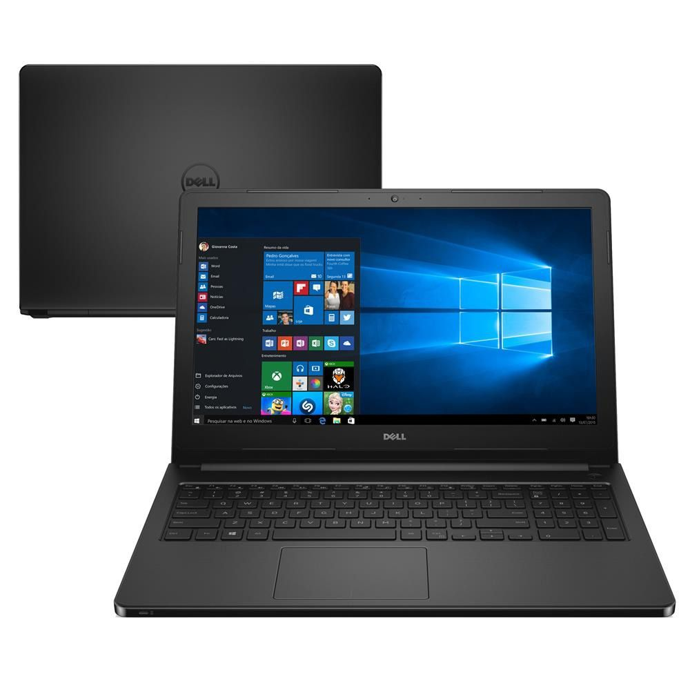 Notebook Dell Inspiron 5566 i5-7200U  8GB DDR4  HD 1TB  15.6 HD  Win10 Home