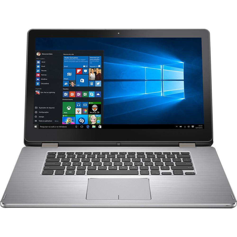 """Notebook Dell Core i7 Inspiron 7568 8GB HD 1TB 15,6"""" FHD Touch Win10"""