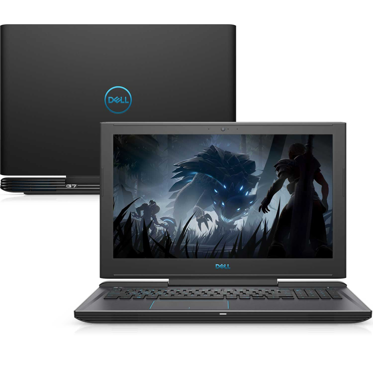 "Notebook Gamer Dell G7-7588-U35P 8ª Ger. Intel Core i7 16GB 1TB + 128GB SSD Placa Vídeo Nvidia GTX 1060 6GB 15.6"" FullHD Linux"