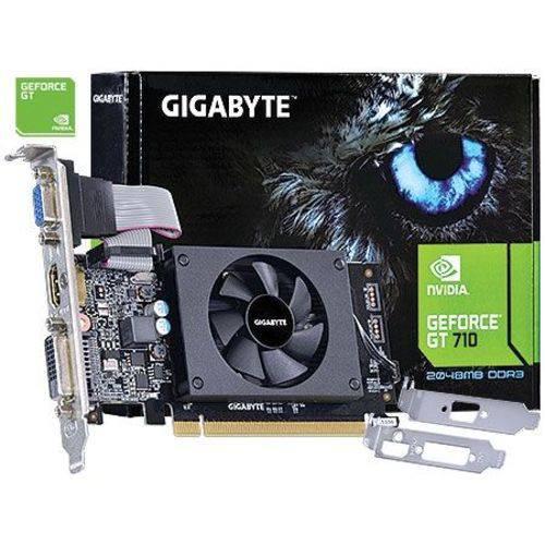 Placa de Vídeo GPU| NV| GT 710| 2GB DDR5| Gigabyte