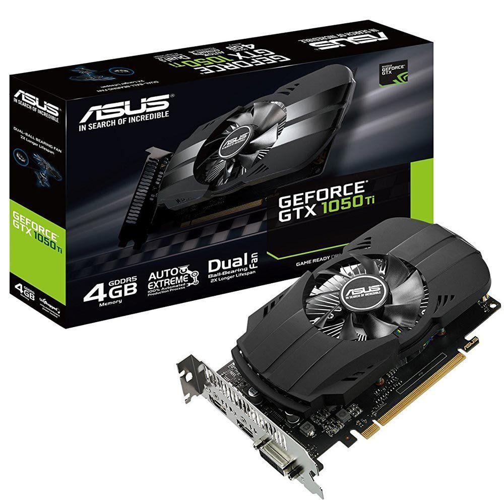 Placa de Video NVIDIA GTX1050TI 4GB DDR5 Asus
