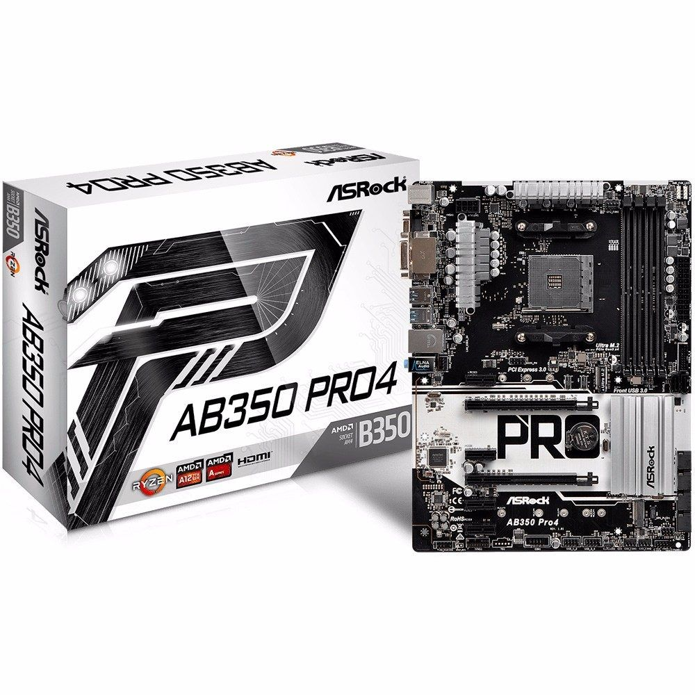 Placa Mae Asrock AB350 PRO4| DDR4 AM4 AMD