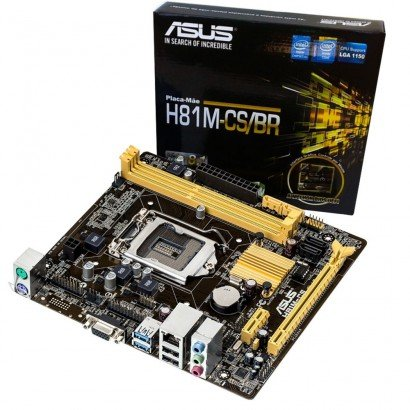 Placa mae Asus H81M-CS/BR 1150 DDR3 Micro ATX