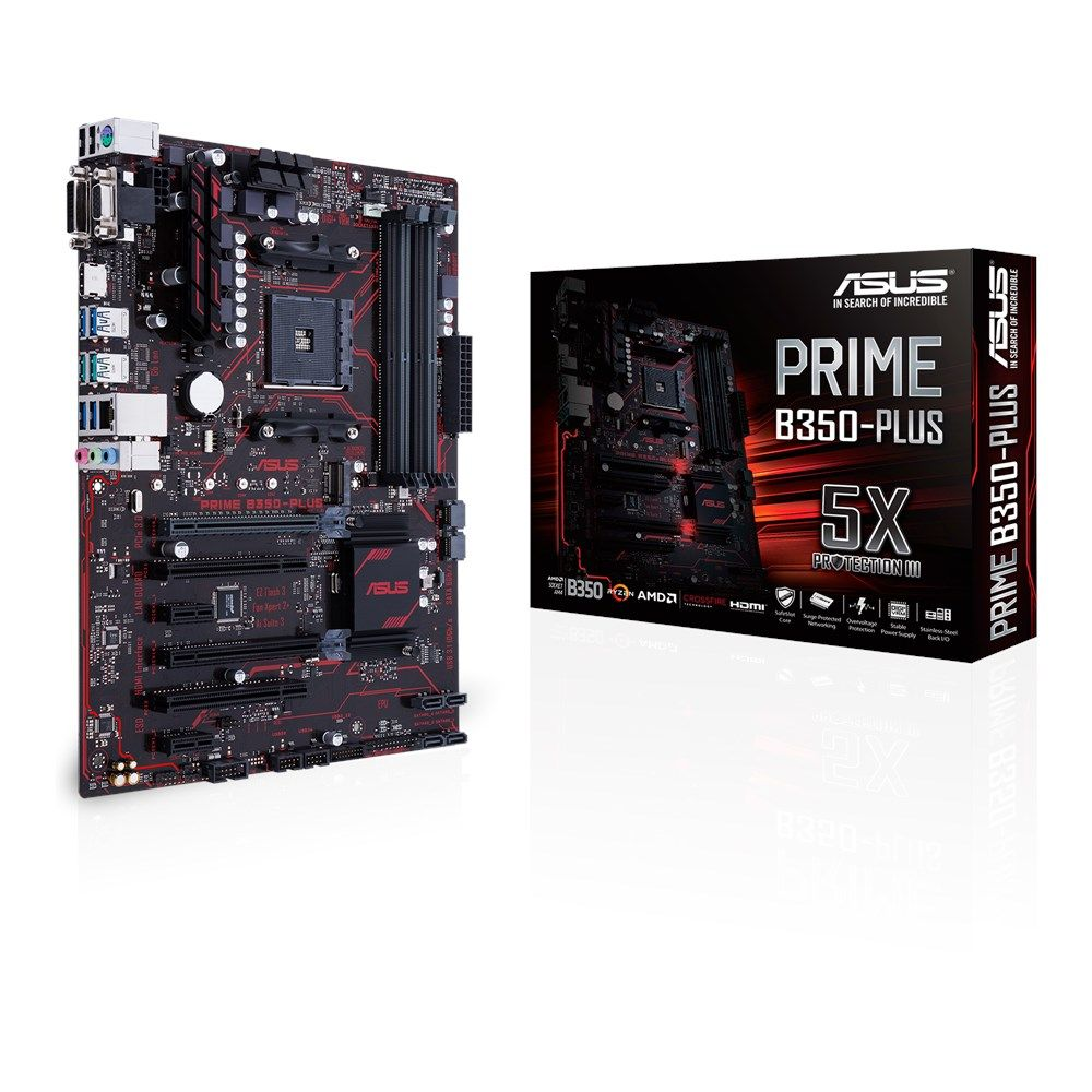 Placa Mae ASUS PRIME B350-PLUS AM4 90-MB0TG0-MOEAY0
