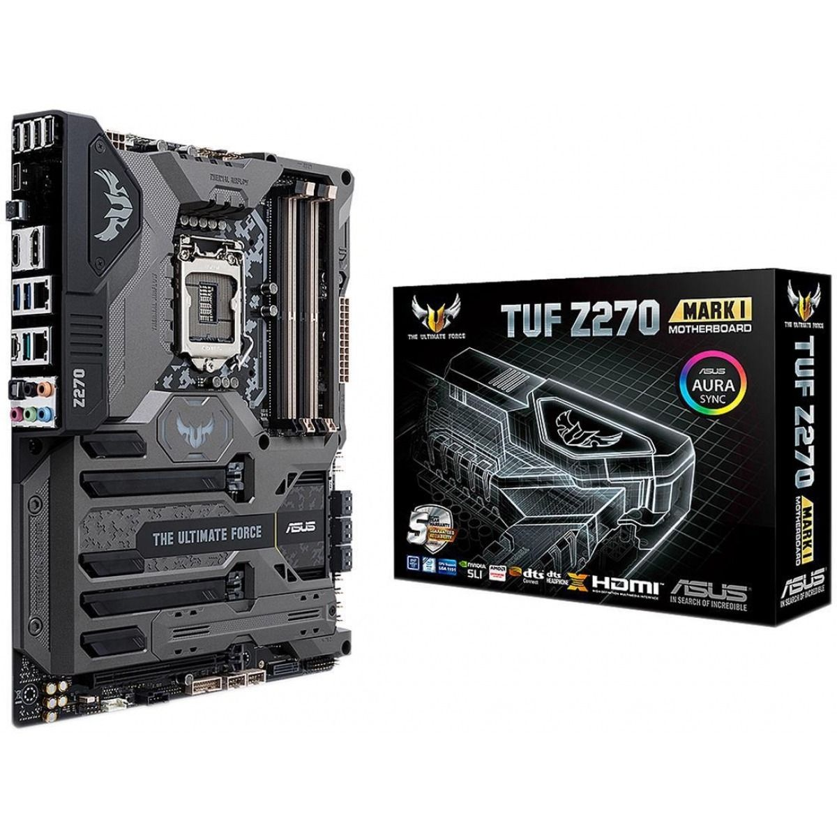 Placa Mae Asus TUF Z270 Mark 1| 1151 DDR4