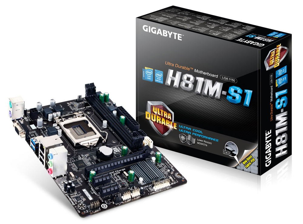 Placa Mae Gigabyte GA-H81M-S1 LGA1150 DDR3  para Core i7 i5 i3