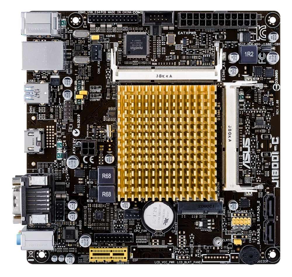 Placa mae micro asus J1800I-C/BR Dual-core DDR3 Mini ITX