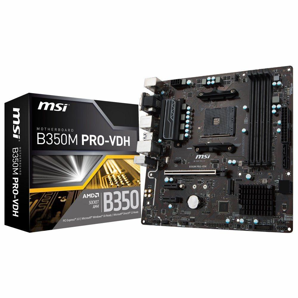 Placa Mae Msi B350M PRO-VDH| AMD AM4 DDR4 HDMI USB3