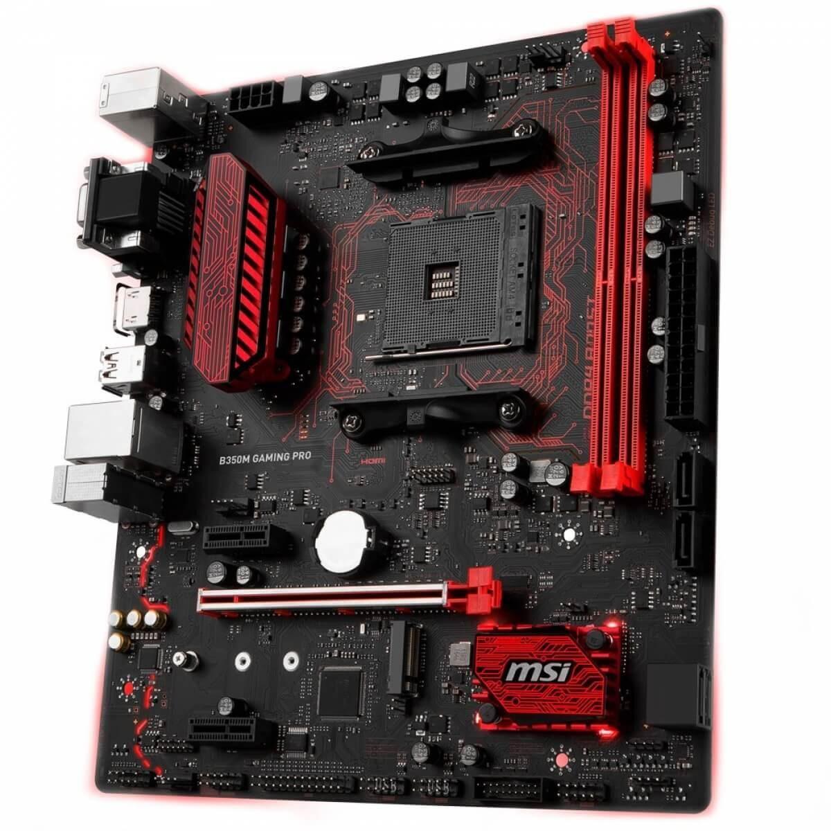 Placa Mae Gaming Pro Msi B350M AMD AM4 DDR4