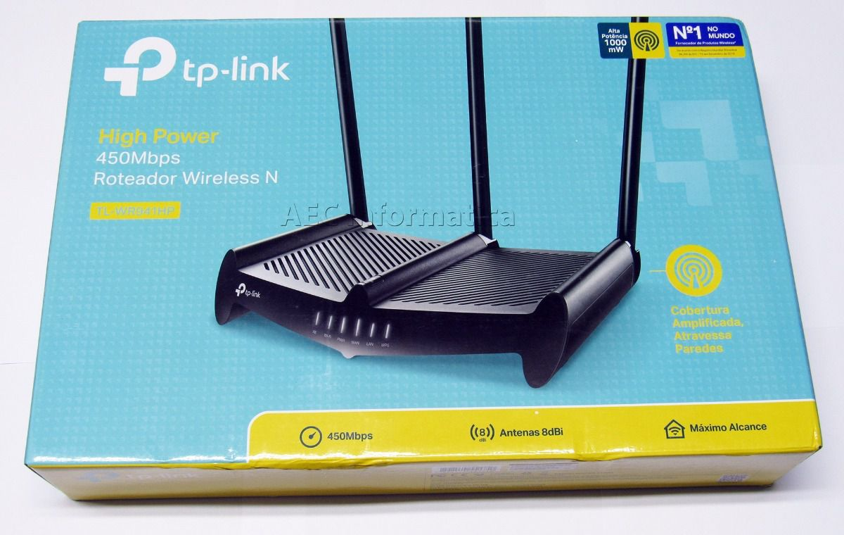 Roteador Tp-link High Power Wireless N 450Mbps