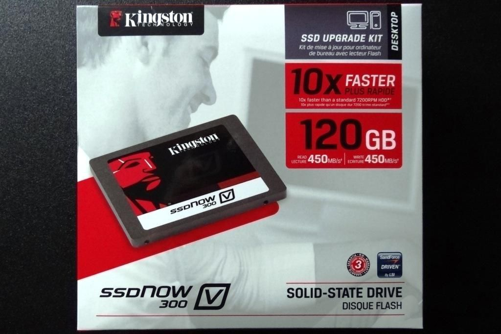 SSD KINGSTON V300 120GB SATA III C/ KIT DESKTOP