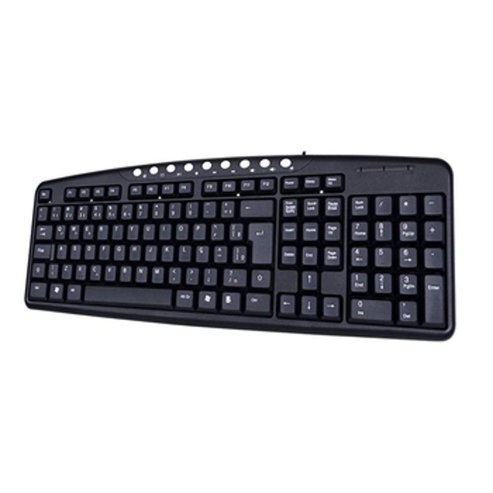 Teclado C3Tech USB Multimida Preto