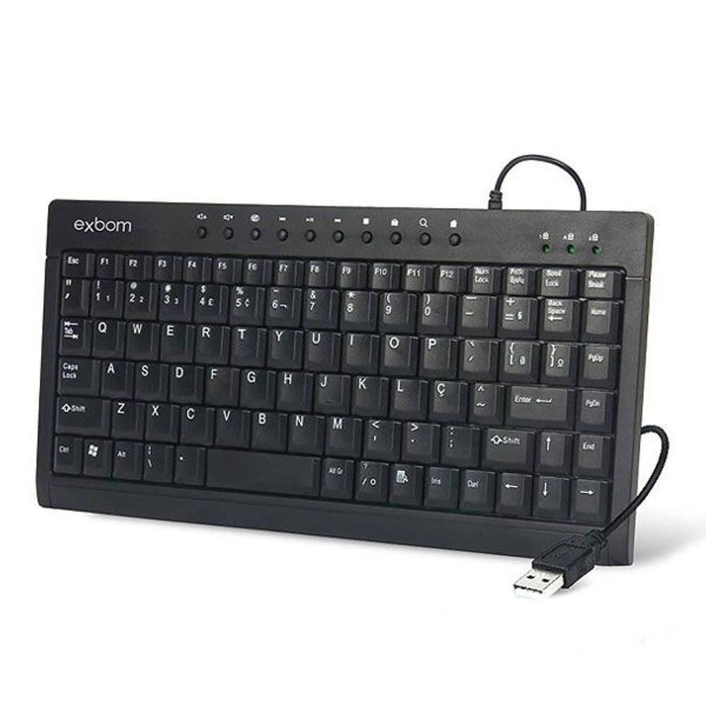 Teclado Mini Exbom Multimedia USB