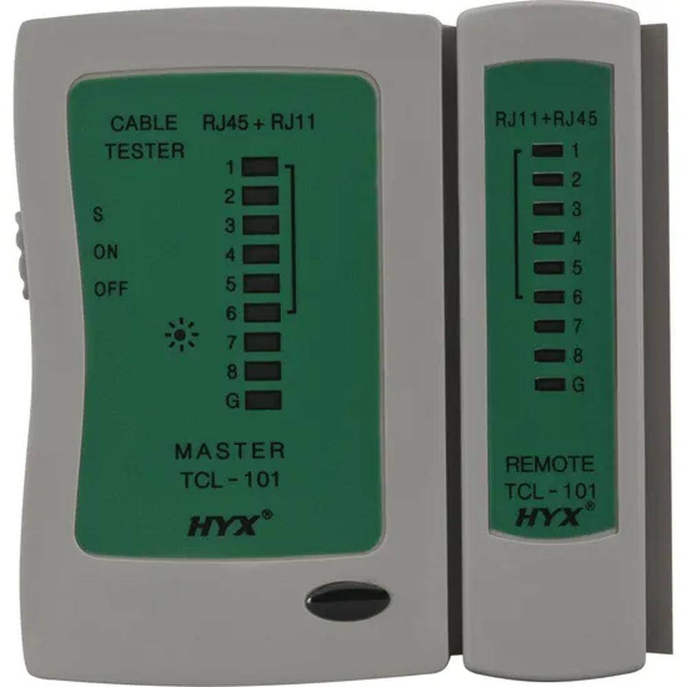 Testador de Cabos Lan HYX RJ-11 e RJ-45 TCL-101 HYX - PN # 66042