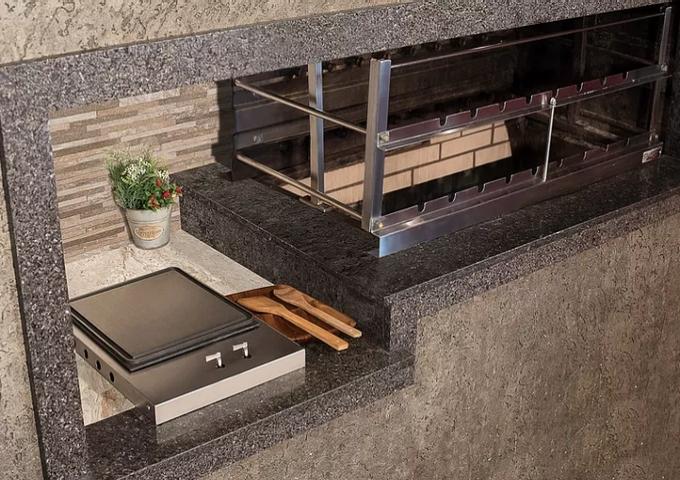 Bifeteira de Embutir a Gás Estilo Cooktop  - Decorgrill - A certeza do melhor para o seu espaço gourmet!