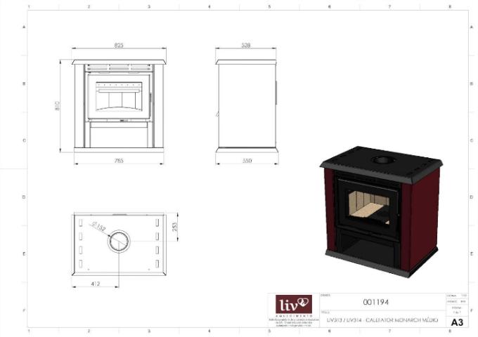 Calefator LIV313 de Dupla Combustão Monarch  - Decorgrill - A certeza do melhor para o seu espaço gourmet!