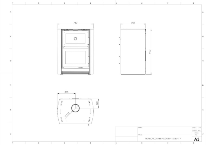 Calefator LIV416 de Dupla Combustão Elíptico  - Decorgrill - A certeza do melhor para o seu espaço gourmet!