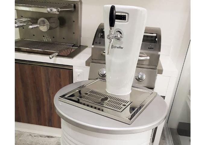 Chopeira Smart White Silver  - Decorgrill - A certeza do melhor para o seu espaço gourmet!
